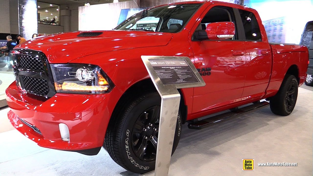 2017 ram 1500 night edition exterior and interior walkaround 2017 new york auto show youtube. Black Bedroom Furniture Sets. Home Design Ideas