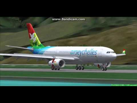 Air Seychelles A330-200 Seychelles International Airport FSIA Landing FS9