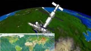"""затопление космической станции """"мир"""""""