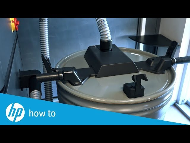 Jak wymienić zewnętrzny zbiornik - drukarki 3D  HP Jet Fusion i dedykowane stacje przetwarzania