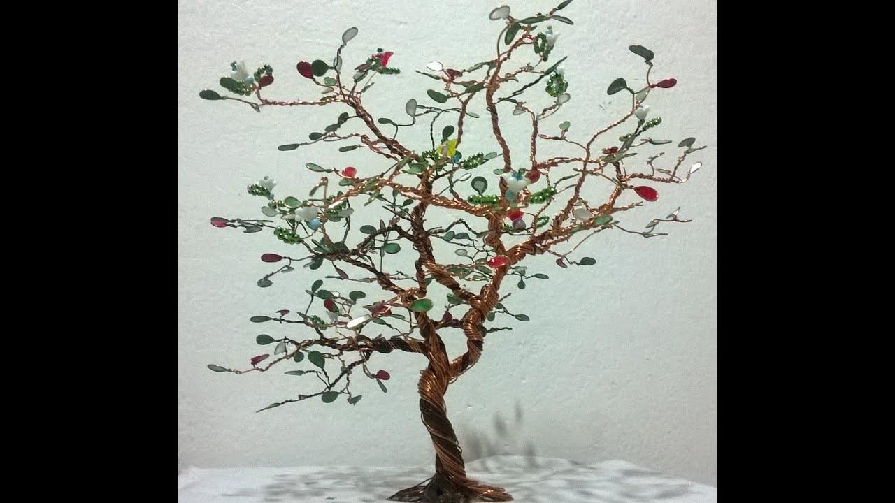 Como hacer arbol bonsay en alambre youtube - Arbol de navidad de alambre ...
