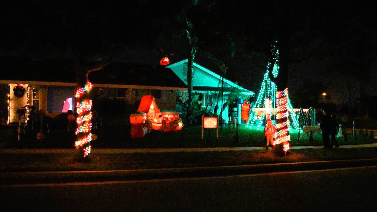 Christmas Lights In La Mirada House At 12808 Elmrock Ave La  - Christmas Lights In La