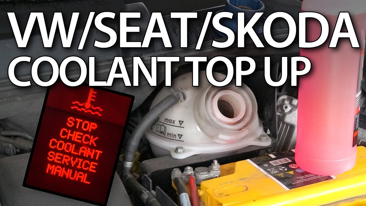 hight resolution of how to top up coolant in volkswagen seat skoda cars vag service