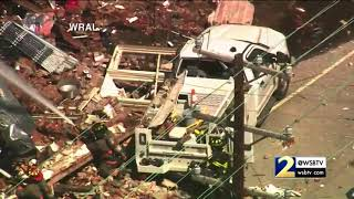 RAW: Gas leak causes building explosion, collapse in Durham, NC