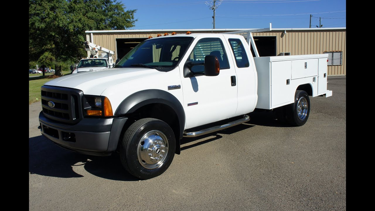 2007 ford f 450 4x4 powerstroke diesel work truck for sale youtube. Black Bedroom Furniture Sets. Home Design Ideas