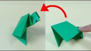 """動く折り紙「立ち上がるカメ」Action Origami """"Standing Up Turtle"""""""
