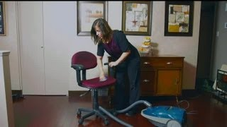 How To Clean A Fabric Office Chair : Home Cleaning