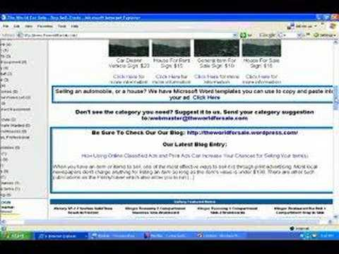 The World For Sale: Classified Ads, Auctions and Trading