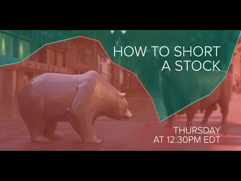 Investing 101: How to Short a Stock