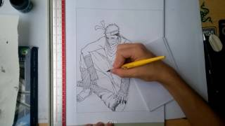 Drawing Zabuza Momochi in timelapse