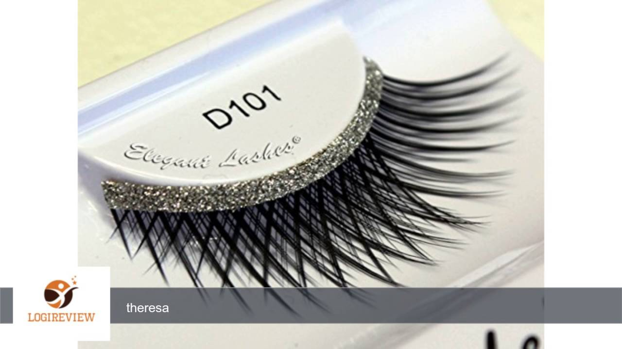 Elegant Lashes D101 Long Criss Cross False Eyelashes With Silver