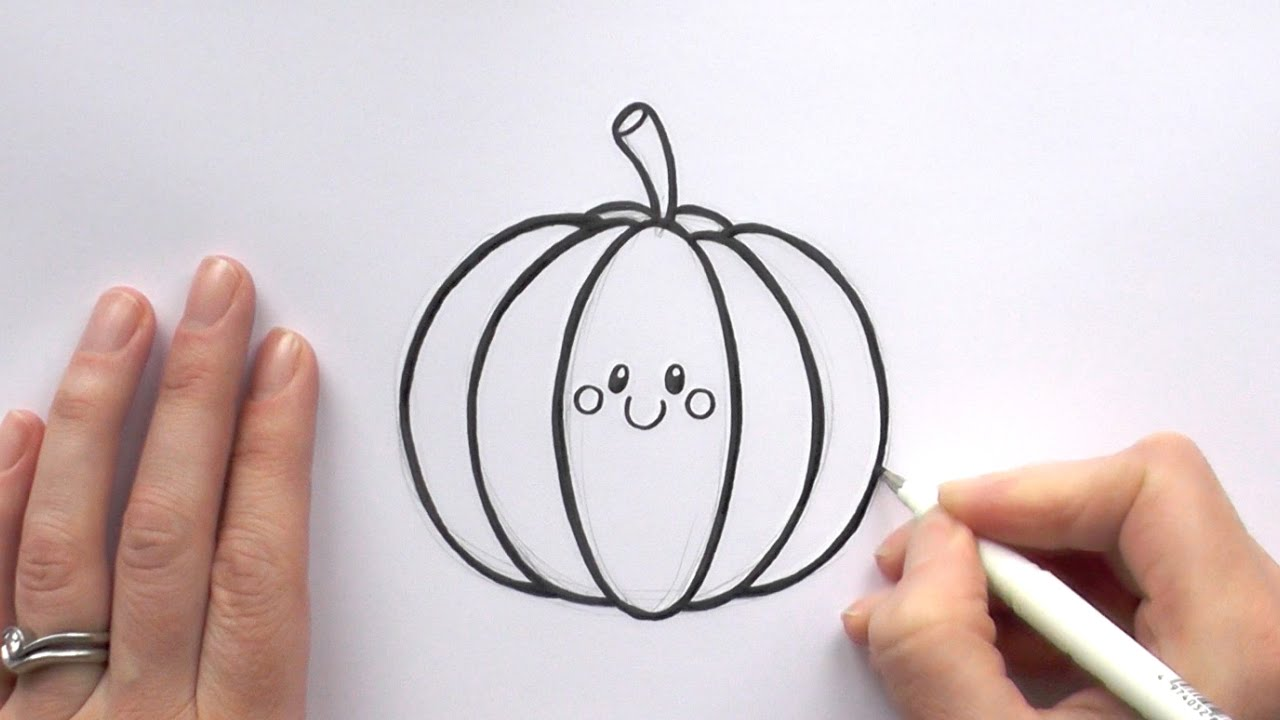 How to draw a cartoon pumpkin youtube how to draw a cartoon pumpkin altavistaventures Choice Image