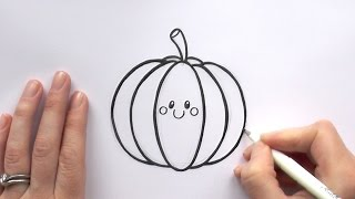 How to Draw a Cartoon Pumpkin