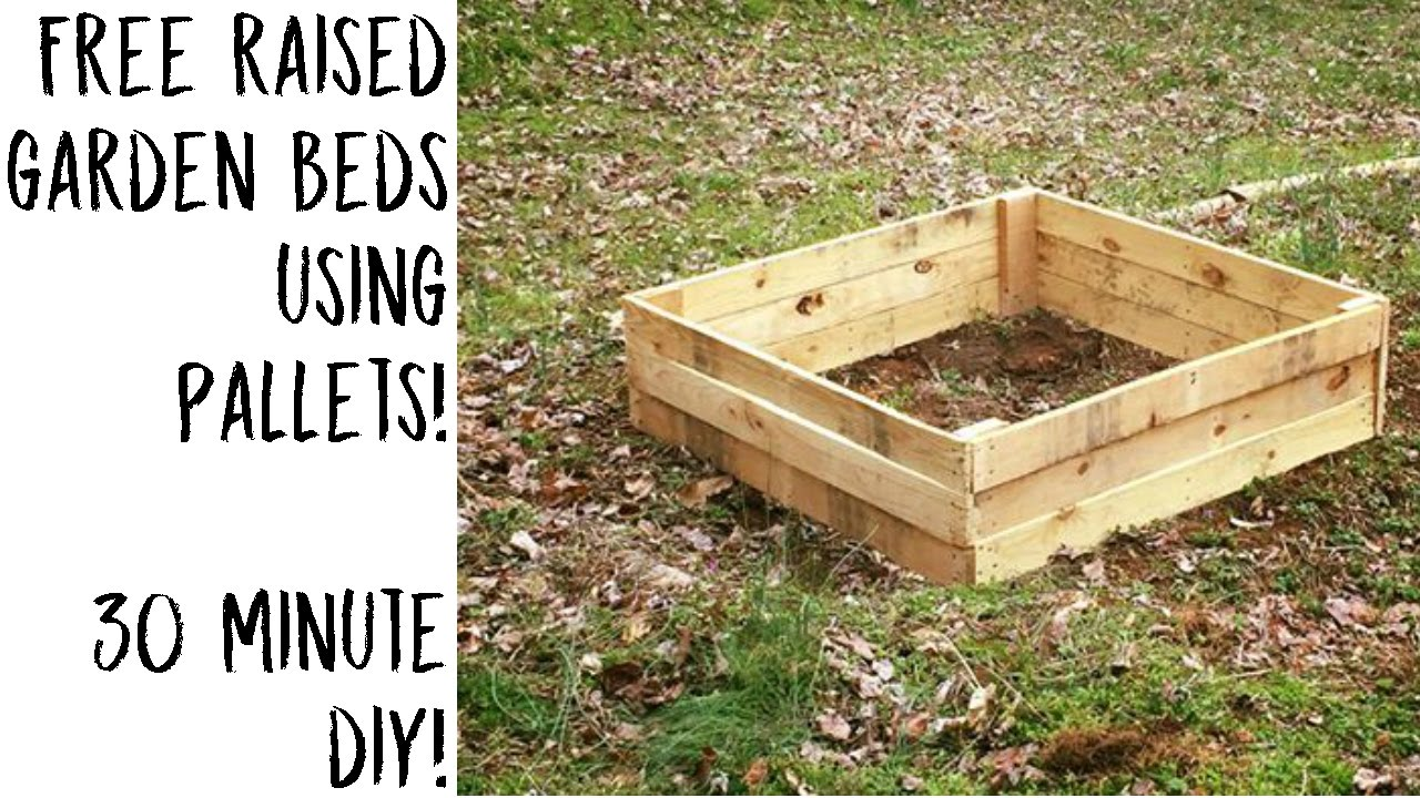 how to make raised garden beds from pallets