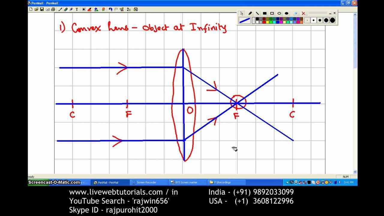 Ray Diagram Convex Lens 1 Object At Infinity
