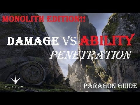 Damage vs ABILITY Penetration | Paragon Guide | Paragon v35.1.1