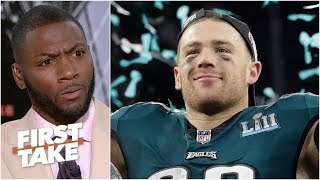 Zach Ertz will lead NFL in touchdown catches this season - Ryan Clark | First Take