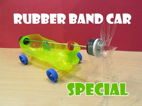 How To Make A Rubber Band Powered Car Help Of Propeller