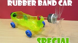 How to Make a Rubber Band Powered Car(Help of Propeller) - Easy Tutorials
