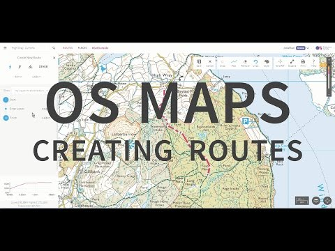 OS Maps - Route planning