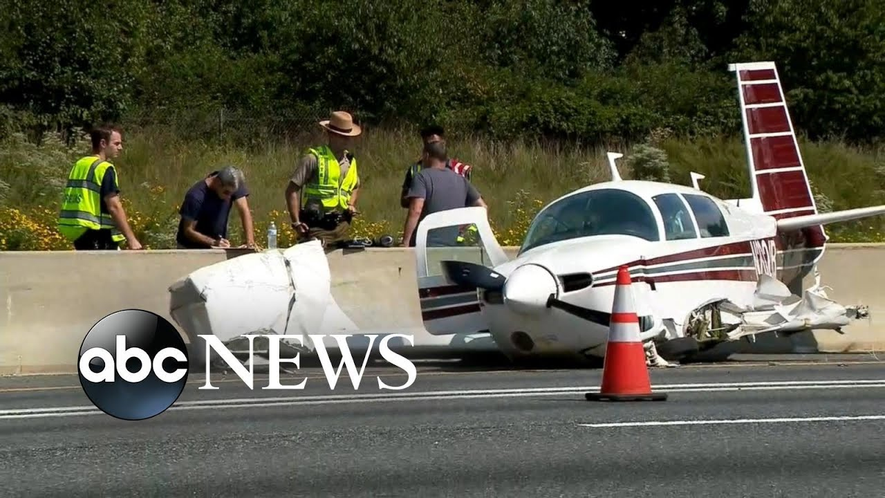 Passenger Airplane Crash Lands, Slides Onto Highway