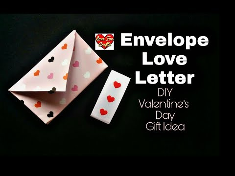 DIY - Envelope Love Letter for Valentine's Day | DIY - Valentine's Day Gift Idea