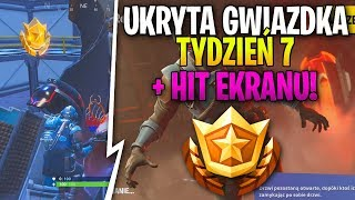 HIDDEN STAR (TASK)-* SECRET CHALLENGE * WEEK 7 + SKIN FOR HIT SCREEN! | Fortnite