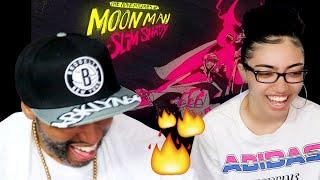 MY DAD REACTS TO Kid Cudi, Eminem - The Adventures Of Moon Man & Slim Shady (Lyric Video) REACTION