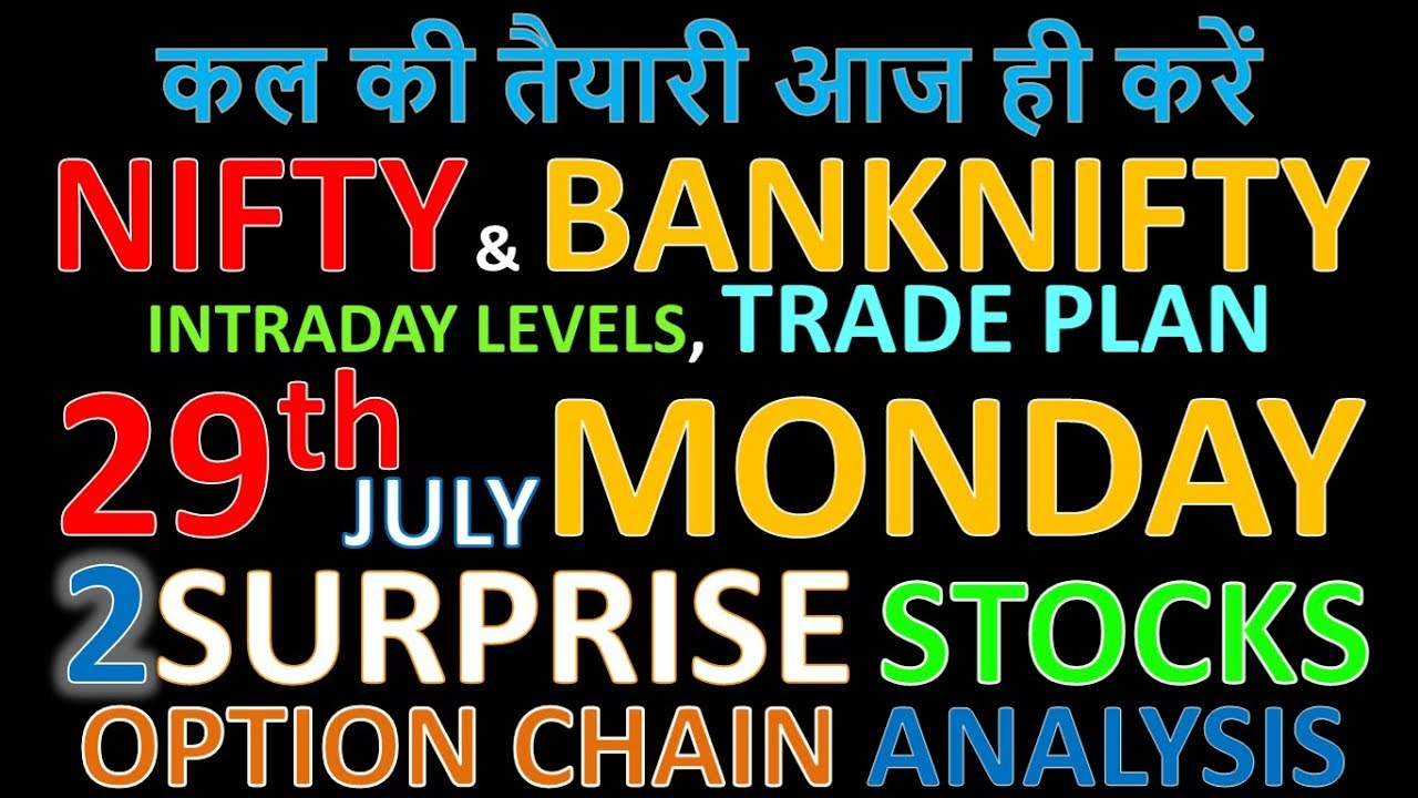 Bank Nifty & Nifty tomorrow 29th July 2019 daily chart Analysis SIMPLE  ANALYSIS POWERFUL RESULTS