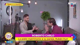 ¡SE NOS CASA! ¡Roberto Carlo le pidió matrimonio a Rubén Kuri!   Sale el Sol