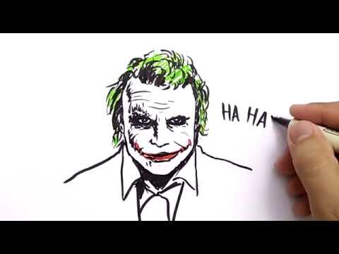 Very Easy How To Draw Joker From Batman Dark Knight Cartoons For Kids Learn How To Draw