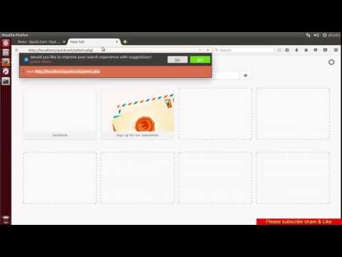 Quick.Cart free PHP shopping cart script installation on ubuntu Linux