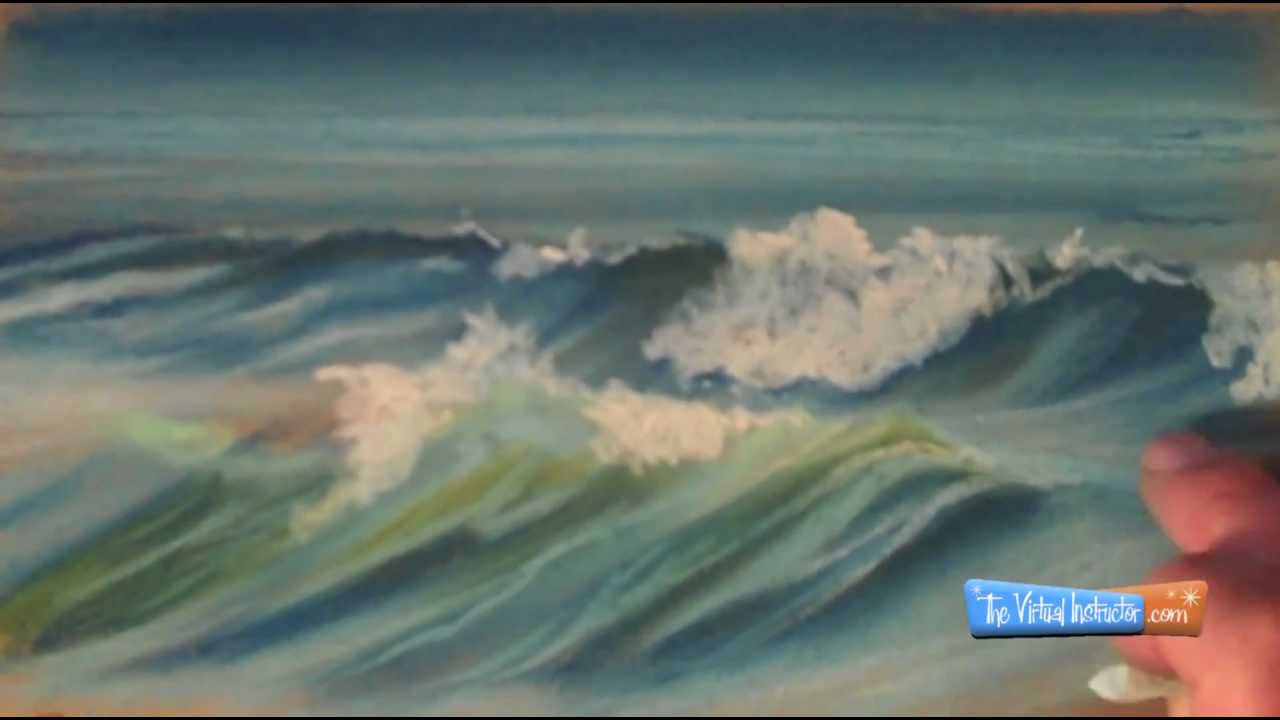 How To Draw Waves With Chalk Pastels Youtube