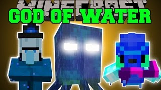 Minecraft: THE GOD OF WATER (CAN YOU SURVIVE THE MUTANT SQUID?!?) Mod Showcase