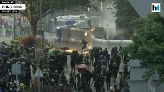 Hong Kong: Protestors lob petrol bombs, police retaliate with tear gas