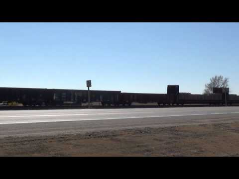 Eastbound Kansas Freight with Interesting Consist