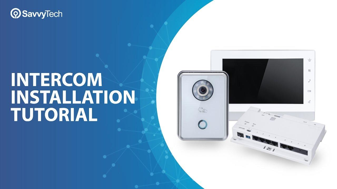 Intercom installation tutorial - YouTube