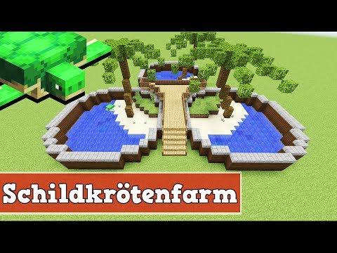 Wie baut man eine Schildkrötenfarm in Minecraft | Minecraft Schildkröten Farm bauen deutsch