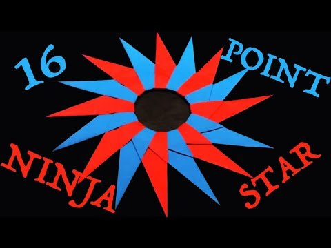 How to Make a 16-Point Ninja Star (Shuriken) - Rob's World