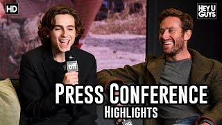 Call Me By Your Name Press Conference Highlights | Armie Hammer | Timothée Chalamet - TIFF17