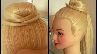 Шляпка из волос 1. Видео-урок. Очень просто.