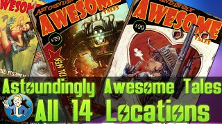 Fallout 4 - LOCATION GUIDE OF ALL ASTOUNDINGLY AWESOME TALES MAGAZINES