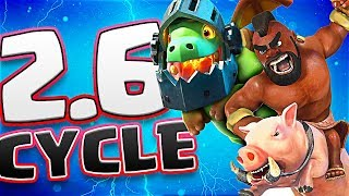 *NEW* 2.6 Hog CYCLE Deck (Molt Clash Royale)
