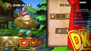 Donkey Kong Country: Tropical Freeze Funky Only Speedrun in 1:25:33