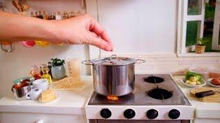 S2 EP27: ASMR MINI COOKING CHICKEN MUSHROOM PASTA [ミニチュア料理の本物 フード] как домашняя кухня