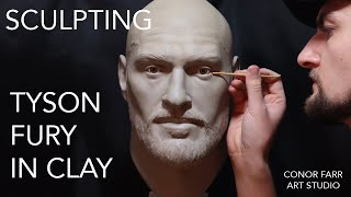 Sculpting Tyson Fury In Clay - Timelapsed