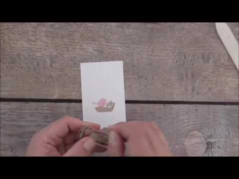 Stampin Up! Swirly Bird And Swirly Scribbles Bird Note Card Tutorial