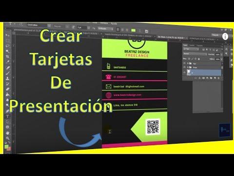 como crear tarjeta de presentacion personal con photoshop_ tutorial en espaol 2017