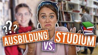 AUSBILDUNG oder STUDIUM? - Unterschiede, VORTEILE, Nachteile | SNUKIEFUL
