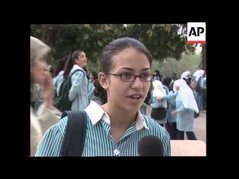 Palestinian children begin new school year